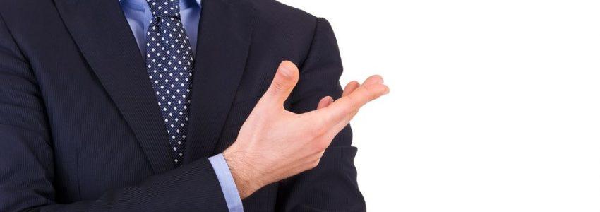 18929253 - businessman gesturing with hand